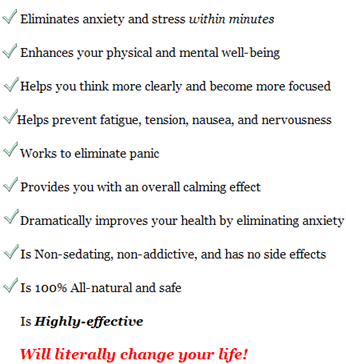 ultimate anxiety benefits